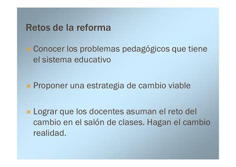 Diseño Curricular Por Competencias El Reto De La Evaluación Conferencia La Reforma Educativa