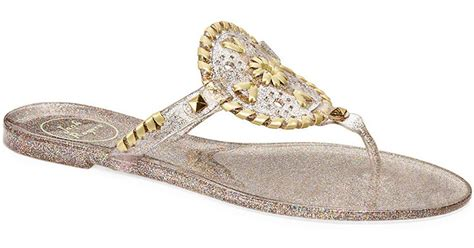 gold jelly sandals rogers sparkle georgica jelly sandals in gold clear