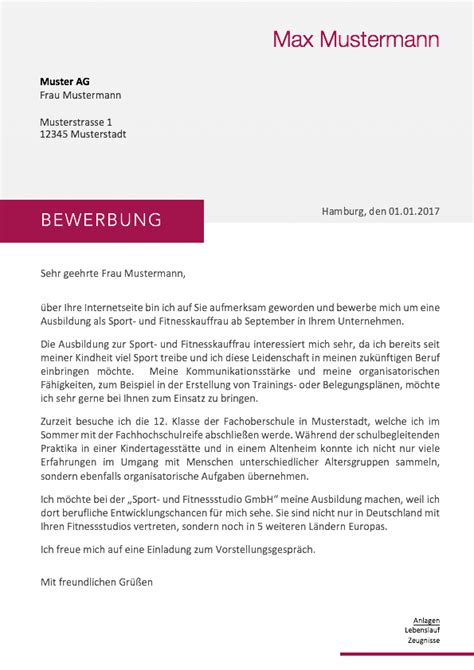 Bewerbung Anschreiben by Bewerbung 2018 Anschreiben Muster Meinebewerbung Net