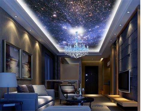 Customized Wallpaper For Walls Home Decoration Night Sky Sky Ceiling Wallpaper