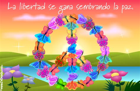 imagenes animadas de amor y paz tarjeta s 237 mbolo de la paz con mariposas paz tarjetas