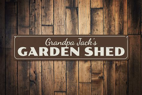 Garden Shed Signs Personalised by Garden Shed Sign Personalized Gardener Name Sign Gift Custom