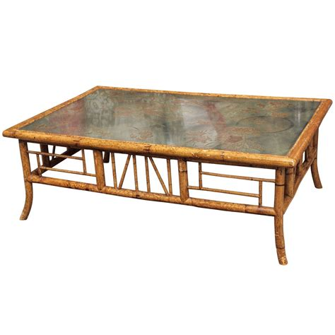 bamboo coffee table vintage bamboo coffee table at 1stdibs