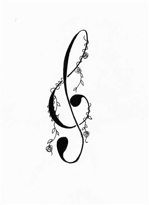 treble clef tattoo design by bodyart fan2222 on deviantart