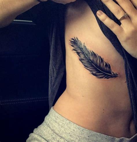 feather tattoo on ribs tumblr feather tattoo on the ribs tattoo pinterest