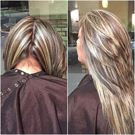 pics of beautiful chunky highlights frosted blonde highlights 500 best chunky streaks lowlights 4 images on pinterest