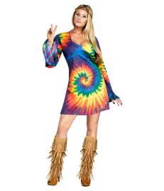 Discount Halloween Decorations Tie Dye Hippie Dress Womens Costume Hippie Costumes