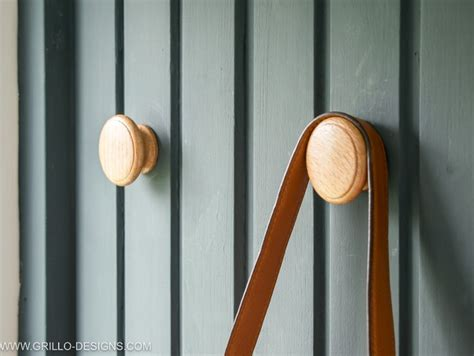 wood knob pattern how to turn cabinet door knobs into wall hooks for coats
