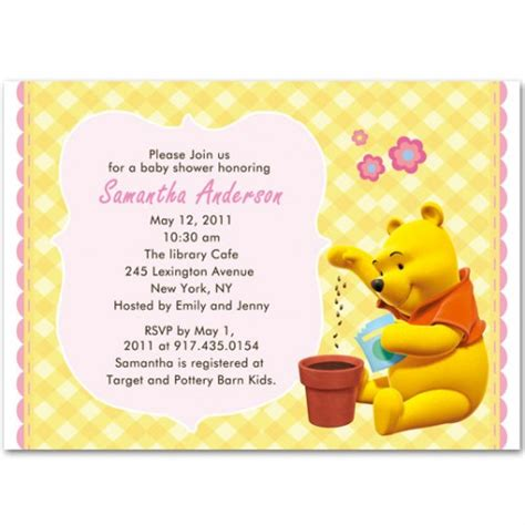 Winnie The Pooh Baby Shower Invitations by Winnie The Pooh Baby Shower Invitations Bs104