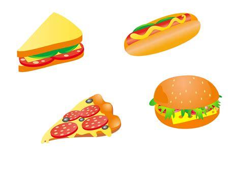 food vector cartoon fast food 03 vector free vector 4vector