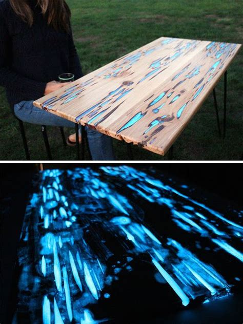 glow in the dark table guy shows how to make glow in the dark table with
