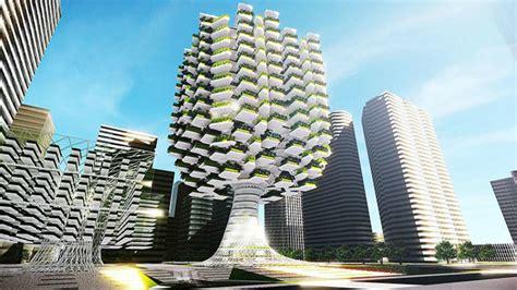 Chicago Bathroom Design by Florense Urban Skyfarm A Tree Shaped Building