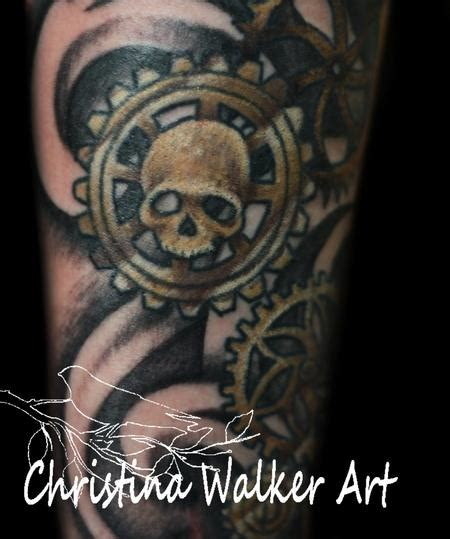 bamboo tattoo edmonton skull gears by christina walker tattoos