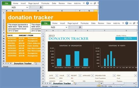 Free Donation Tracking Templates For Excel Donor Tracking Template