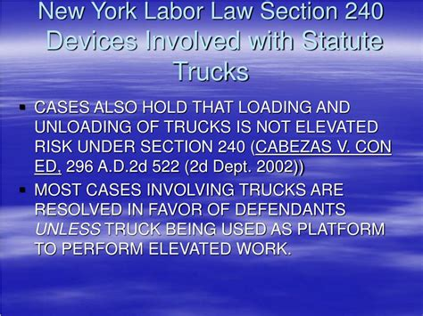 new york labor law section 240 ppt new developments in new york labor law sections 200