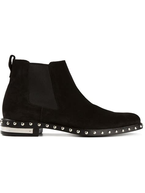 Givenchy 3008bs Side Studed givenchy studded chelsea boots in black for lyst