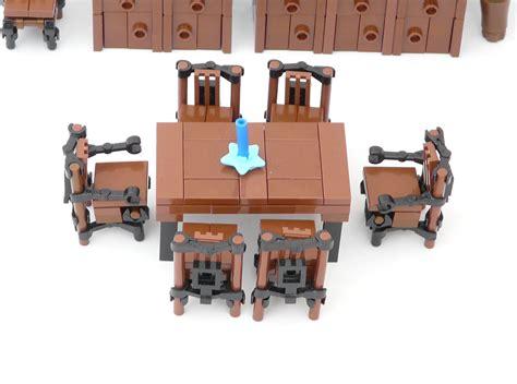 lego ideas minifig furniture dining room