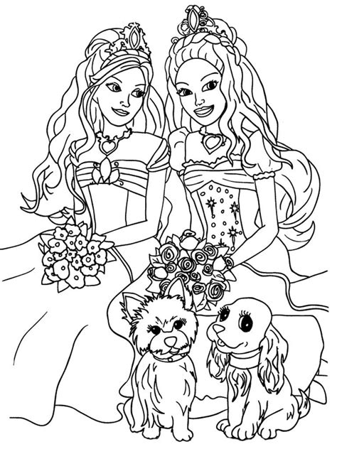 barbie hair coloring page kids coloring sheets barbie and the diamond castle