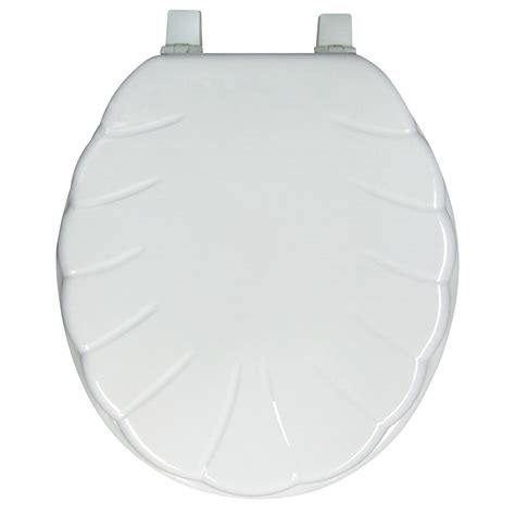 shell toilet seat spotless bath ginsey closed front shell molded wood