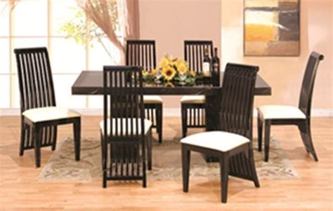 used black lacquer dining room set lacquer dining set 7 pcs modern italian marble w black lacquer dining room