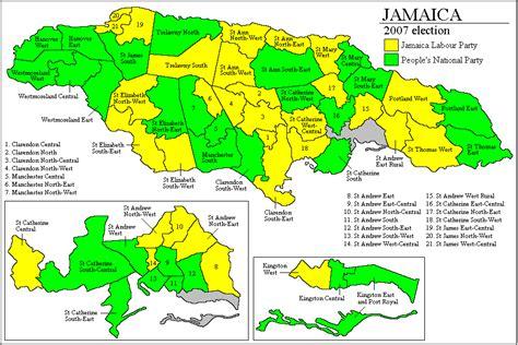map us jamaica psephos adam carr s election archive