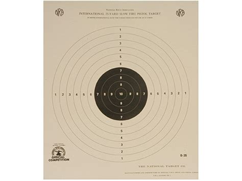 printable targets midway nra official international pistol targets b 35 25 yard