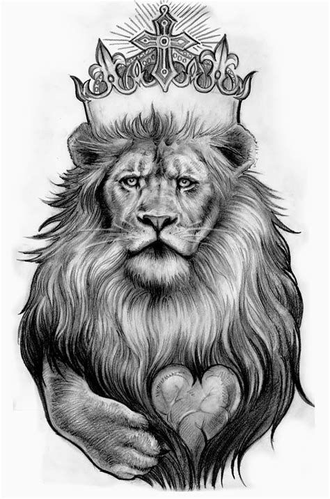 lion with crown tattoo design 82 design sketches