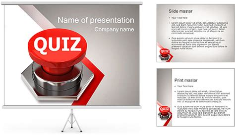 Quiz Powerpoint Template Backgrounds Id 0000001902 Smiletemplates Com Quiz Powerpoint Template