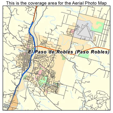 paso robles aerial photography map of el paso de robles paso robles