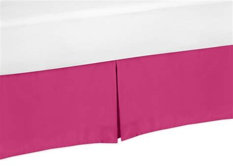 pink bed skirt pink king bed skirt for hot pink and white chevron bedding sets by sweet jojo designs