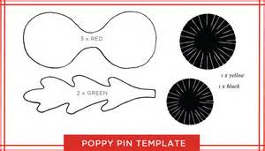 Poppy Printable Template by Tutorial A Paper Poppy Pin For Remembrance Day O C C A