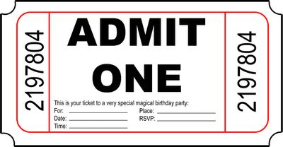 blank admit one ticket template blank ticket png clipart best