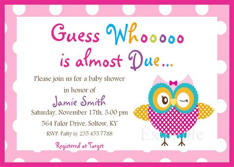 invitation template for baby shower baby shower invitations templates free