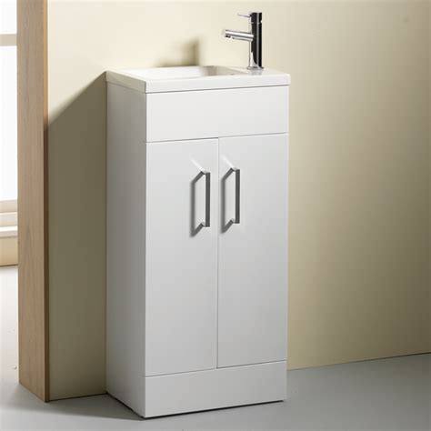 Slimline Vanity by Allbits 50 Slimline Vanity Unit Basin With Tap