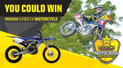 win a motocross bike rockstar and mac s mx contest win a yamaha yz450fx