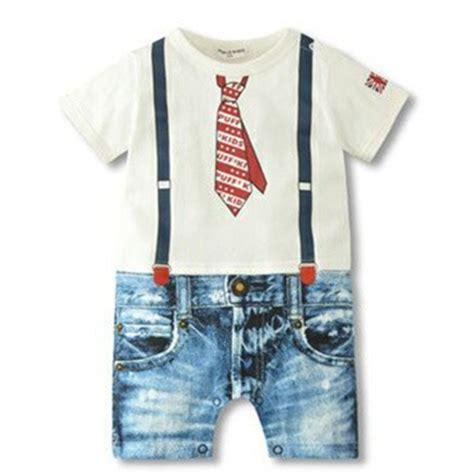 Romper Bodysuit Bayi Laki Laki baru pakaian anak laki laki 2015 gentlemen gaya print