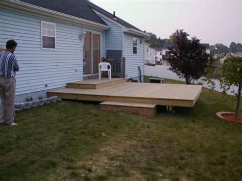 simple backyard deck ideas simple deck pictures