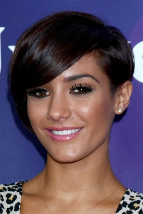 hairstyles for frankie sandford hairstyle frankie sandford straight dark brown asymmetrical