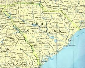 map of carolina with cities and towns south carolina base map