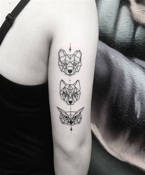 geometric animal tattoos geometric animal www imgkid the image kid