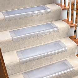 Stair Carpet Protectors by Clear Vinyl Stair Tread Contemporary Carpet Tiles By