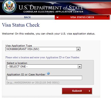 this how you check us visa application status