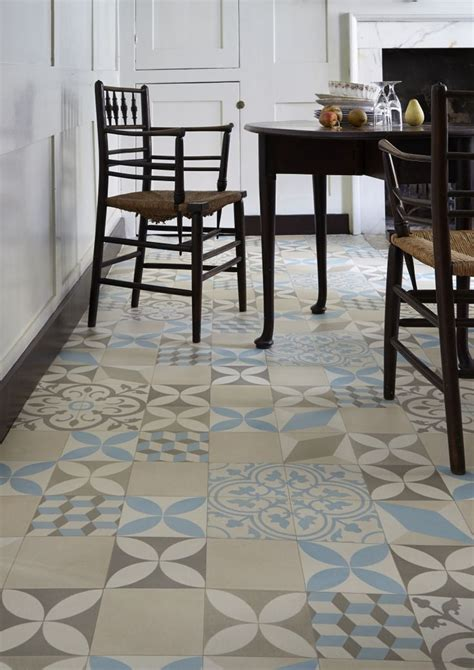 Encaustic Patterned Vinyl | trends in patterned flooring love chic living