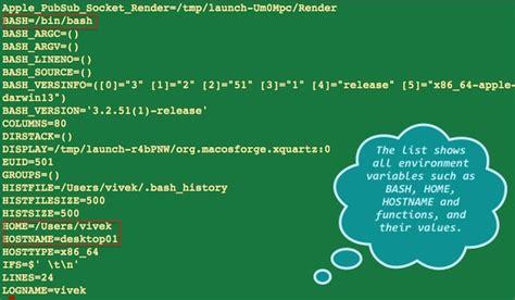 linux tutorial environment variables unix linux print environment variables command nixcraft