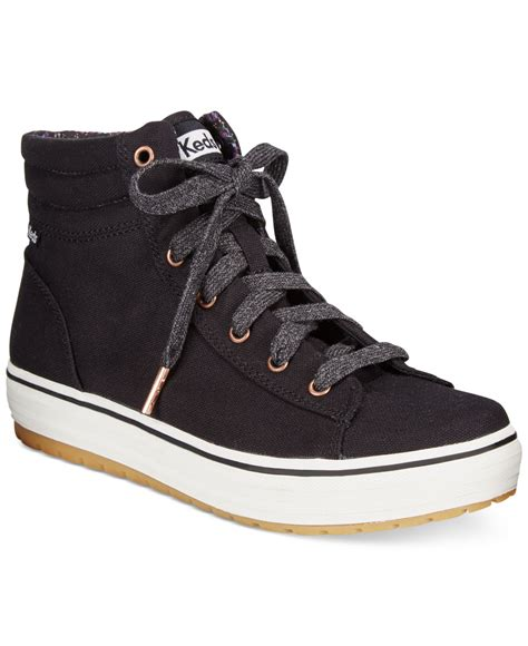 womans high top sneakers keds s high rise high top sneakers in black lyst