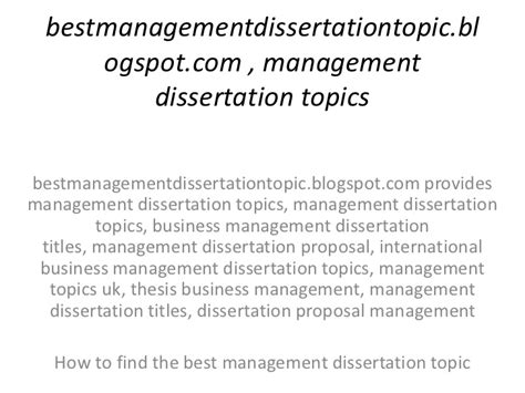 best dissertation topics management thesis topics 28 images msc construction