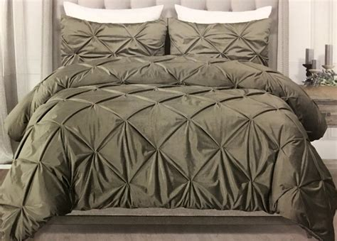 tahari luxury velvet 3 piece king comforter set silver