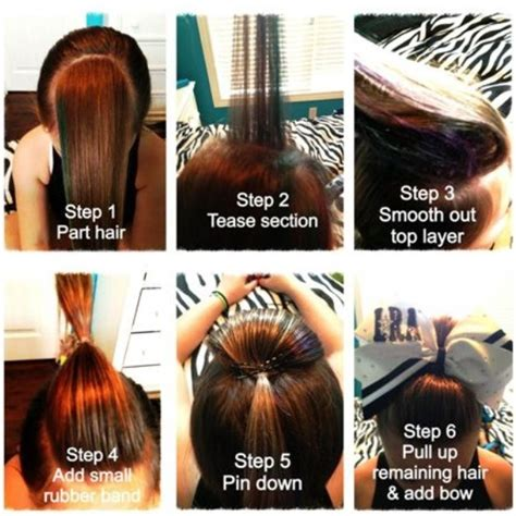 how to do bump hairstyles all star cheer hairstyles hairstylegalleries com