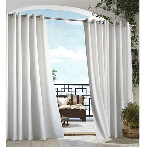 Outdoor Gazebo Curtains Gazebo Indoor Outdoor Curtain Panel White Boscov S