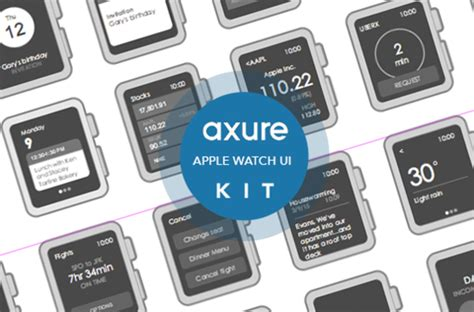 Apple Watch widgets for Axure ~ Web Elements on Creative